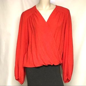 NWT free people faux wrap top